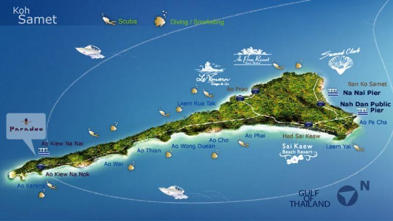 Koh Samet mapa