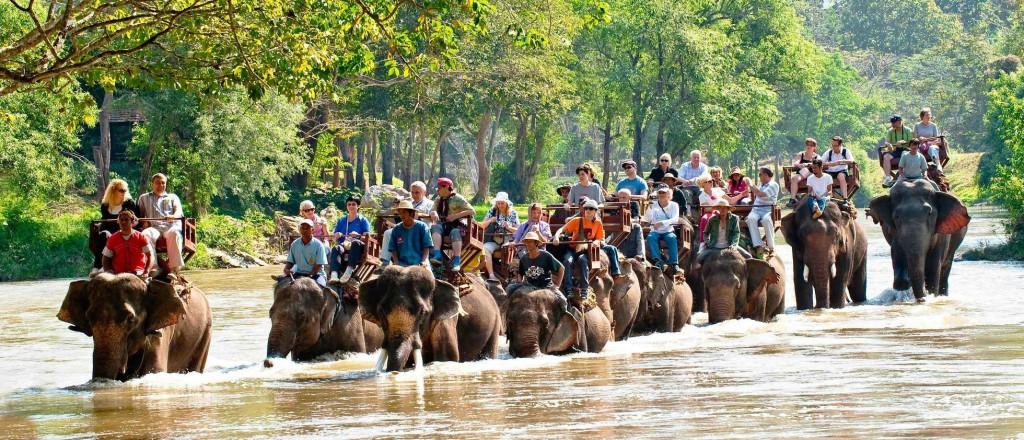Koh Lanta jazda na slonovi