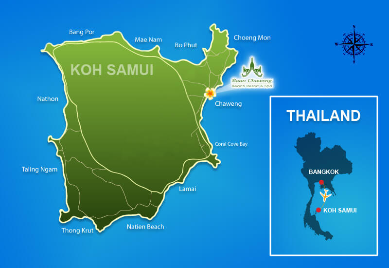 mapa Koh Samui