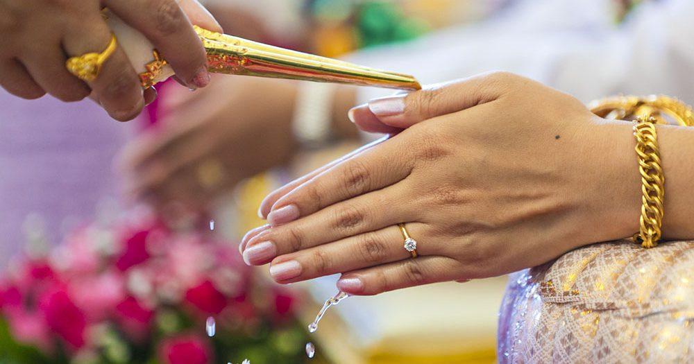 Obrad na thajskej svadbe