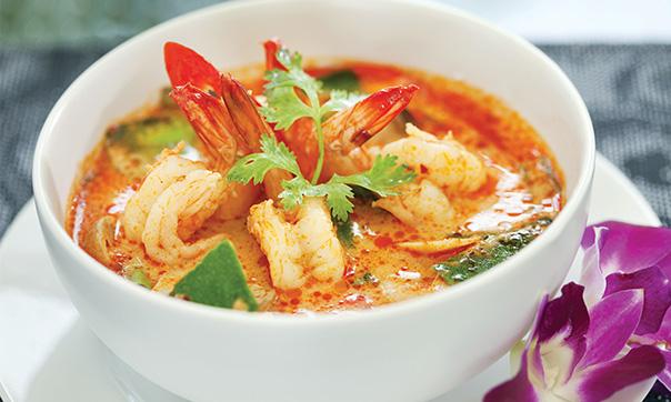Thajske jedlo krevety