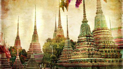 Historická foto chrámov v Thajsku