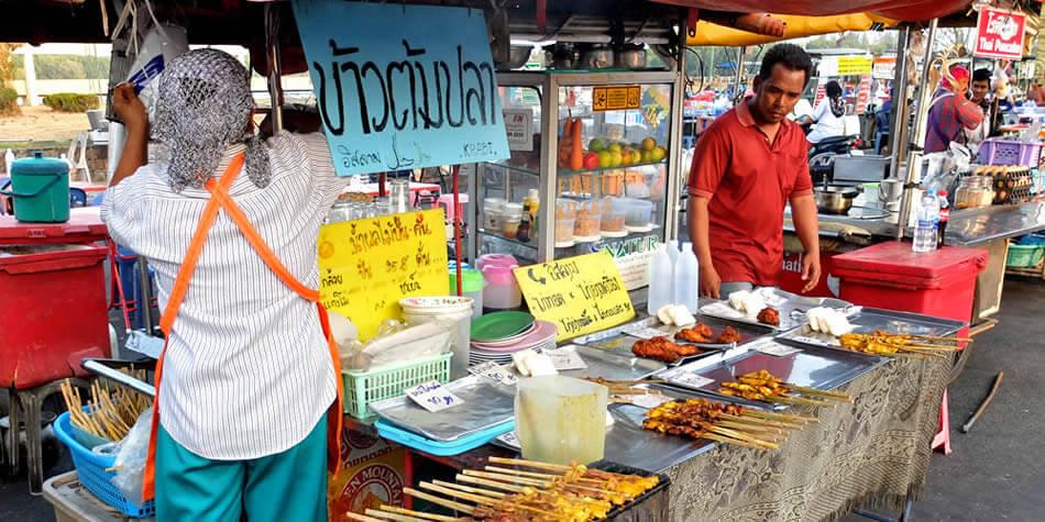 trhovisko krabi thajsko